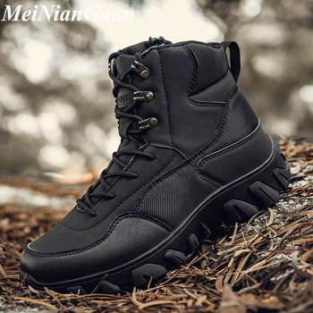Sapatos de caminhada homem conforto sapatos de plataforma de luxo n2 botas militares de alta qualidade 1
