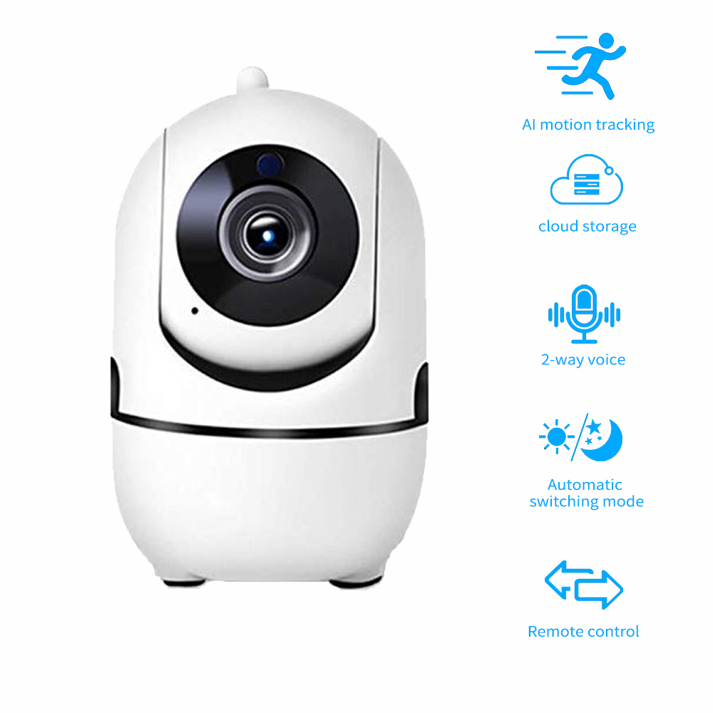 Intelligent Auto Tracking 1080P Cloud Wireless IP Camera Of Human Home Night Vision Security Surveillance CCTV Network Wifi Cam