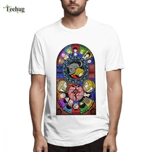 Fullmetal Alchemist Stained Glass Clothes Hipster For Man 2019 New Top Design Round Collar Tee Shirt Male