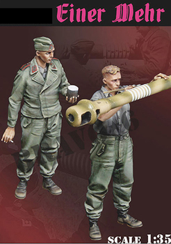1/35 Einer Mehr Uncolor (2 FIGURES WITH BARREL ) toy Resin Model Miniature resin figure Unassembly Unpainted image