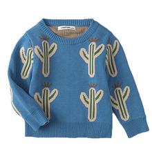 Dla dzieci dziewczyny chłopcy sweter jesień wiosna dzieci kaktus odzież dzianina chłopcy sweter sweter sweter z dzianiny odzież dziecięca tanie tanio campure Na co dzień COTTON REGULAR Pasuje prawda na wymiar weź swój normalny rozmiar Unisex Pełna NONE GEOMETRIC Brak