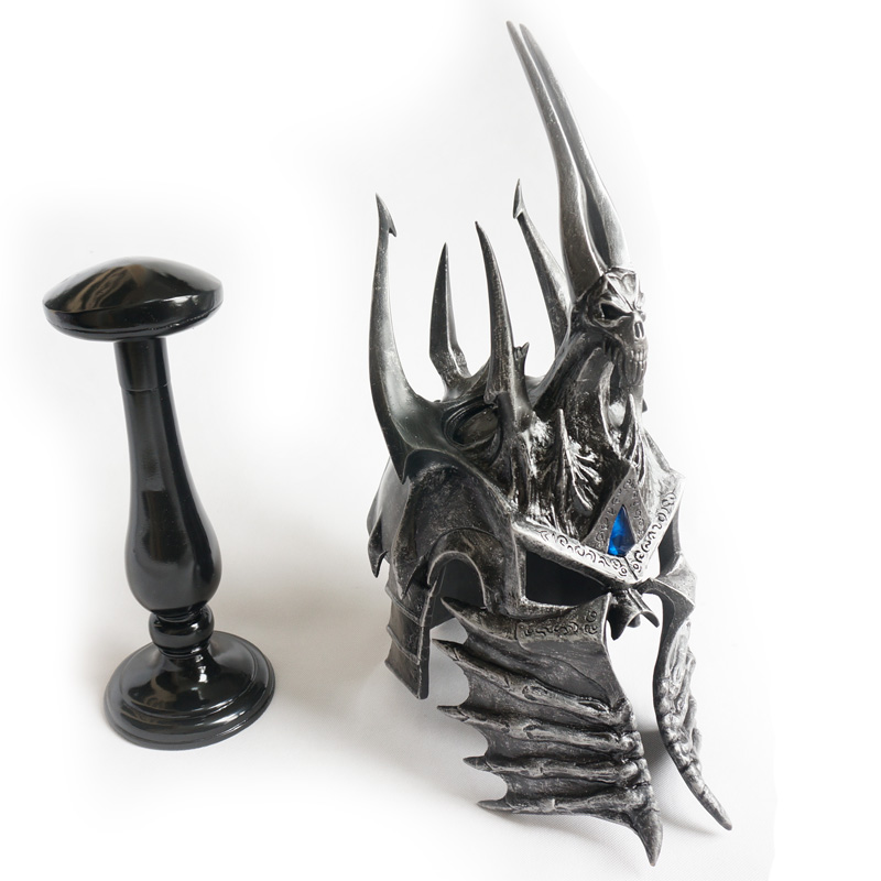 [Funny] 1:1 WOW Lich King helmet figure resin toy include stand collection model adult cosplay Costume party gift