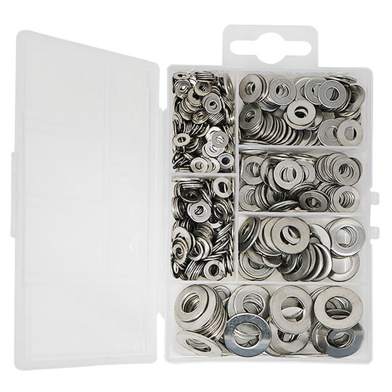 660 Pcs/Set M3 M4 M5 M6 M8 M10 Washer Spacers Stainless Steel Flat Washer Plain Gasket Spacers Kit Screw Bolt Fastener|Furniture Pads| |  - title=