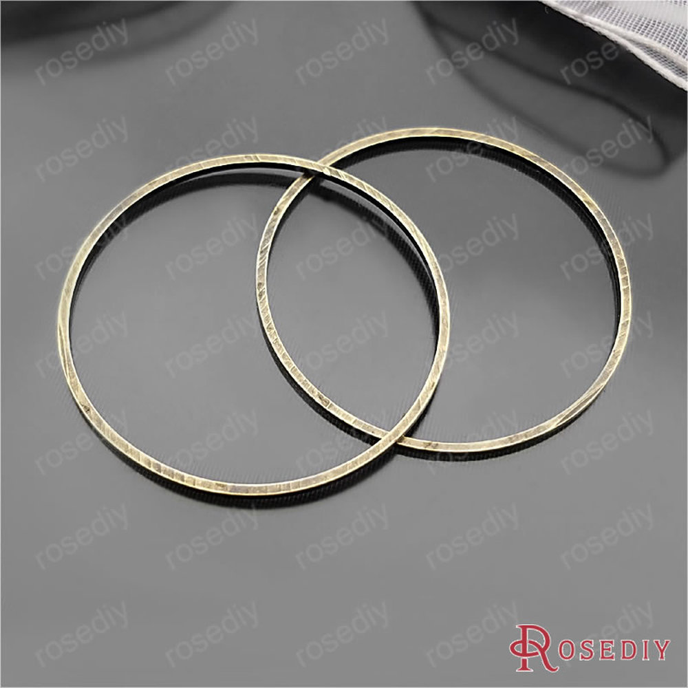 Wholesale Antique Bronze 20mm 25mm 30mm 40mm 50mm 80mm Round Copper Closed Ring Diy Jewelry Findings Accessories (JM6439)
