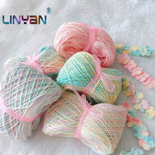 5 balls * 50g Pure cotton space dye 3# lace yarn for knitting High quality Crochet cotton