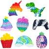 Pineapple Rainbow Pop Bubbles Fidget Toy Its Anti Stress Relief Toy For Children Adults Desk Sensory Autism Adhd Depression
