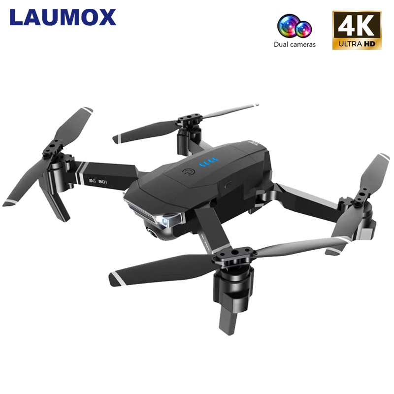 LAUMOX SG901 RC Drone 4K HD Camera 1080P WiFi FPV Professional Optical Flow Camera Drone 18 minutes RC Quadcopter VS Xs816 SG106