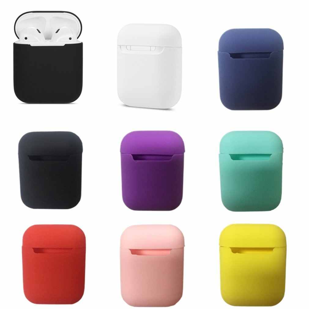 Universal Silikon Case Nirkabel Headset Tahan Air Headphone Protection Box untuk Apple untuk Airpods Aksesoris