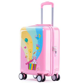 Bagaż na kółkach dla dzieci podróż walizka na kółkach torba na kółkach torba na kółkach dla dzieci wózek na kółkach 18 #8221 śliczne etui prezent tanie i dobre opinie LEINASEN 53cm Bagaż podręczny ons 35cm Spinner 23cm Unisex 18 inch suitcase kids Luggage Cartoon spinner luggage trolley Suitcase with wheels
