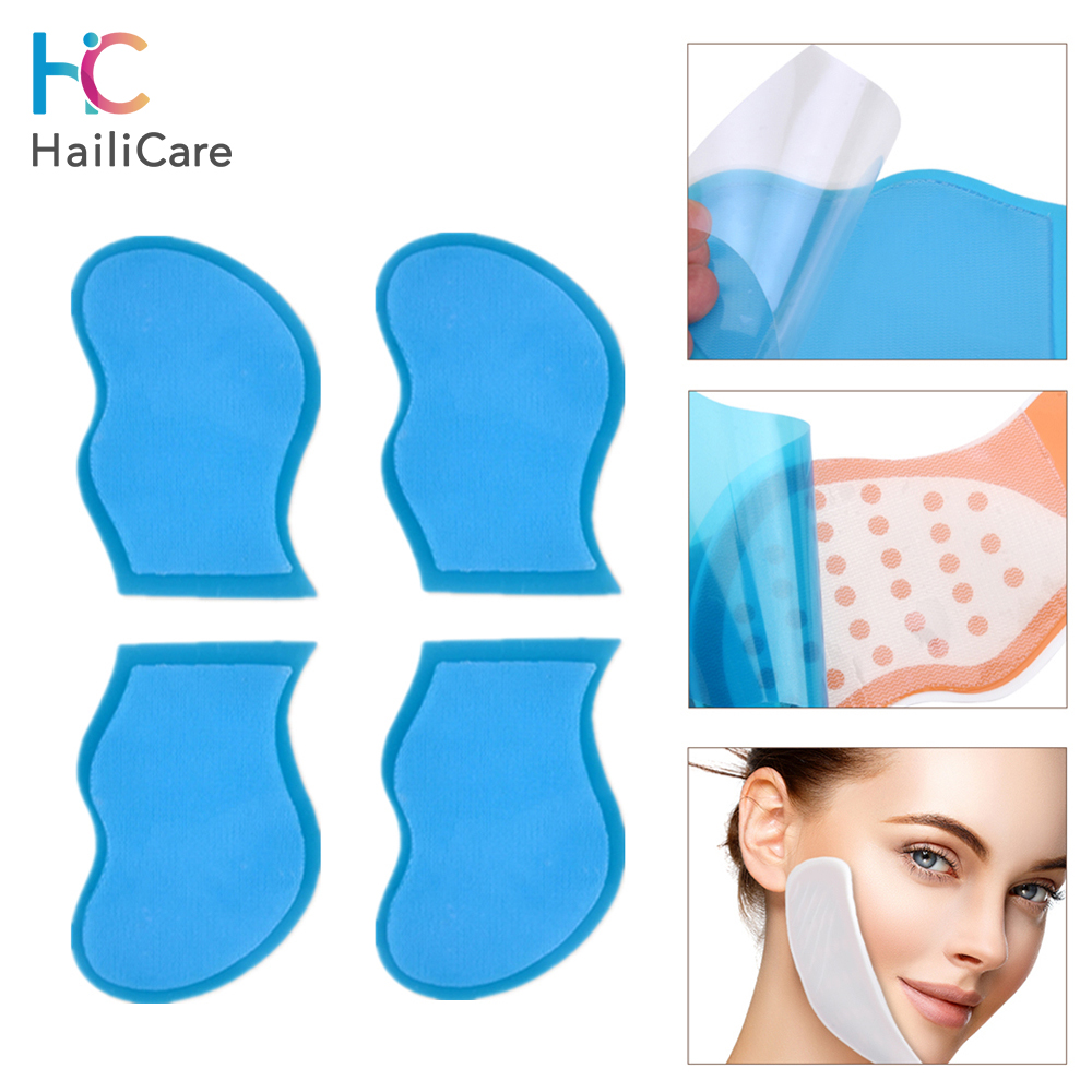 5Pairs Replacement Gel Pads For EMS Face Lifting Machine Electrical Muscle Stimulator V Face Slimming Massage Patch