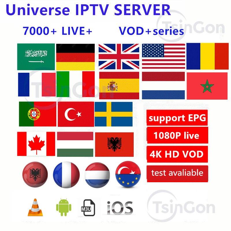 Europe IPTV Subscription France UK German Adult Xxx Arabic Dutch Sweden French Poland Portugal Spain Smart M3U 7000 Live Android