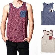 Мужская городская уличная одежда в стиле хип-хоп с карманом, майка, американский размер s-xl