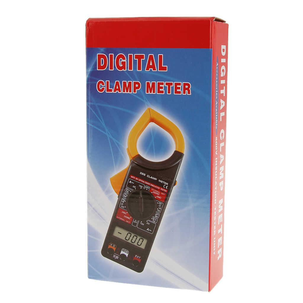 DT266C LCD 디지털 클램프 멀티 미터 AC/DC 멀티 미터 테스터 500V 절연