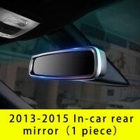 Para ford explorer 2013-2015 interior espelho retrovisor quadro chrome 1pc