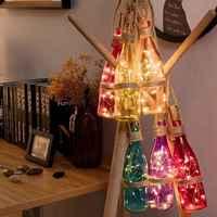 Großhandel 2M 20LED Flasche Lichter Corker Kupfer Draht String Atmosphäre Girlande Fee Lichter für Urlaub Partei Hause Hochzeit Decor