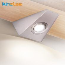 LED Closet Wall Lights AC12/110/220V Triangle Stainless Steel Under Cabinet Lamps With Switch Cupboard Bathroom Kitchen Lighting