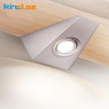 Lampes murales Triangle en acier inoxydable, AC12/110/220V, sous-meuble, avec interrupteur, placard, salle de bain, cuisine