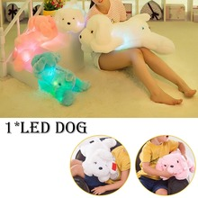 50cm LED Glowing Puppy Dog Stuffed Toys Children Kids Birthday Gift Kawaii Luminous Teddy Dog Plush Doll Toys Colorful 35cm luminous dog plush doll colorful led light glowing dogs kids toy children girls gift kawaii stuffed animal toy