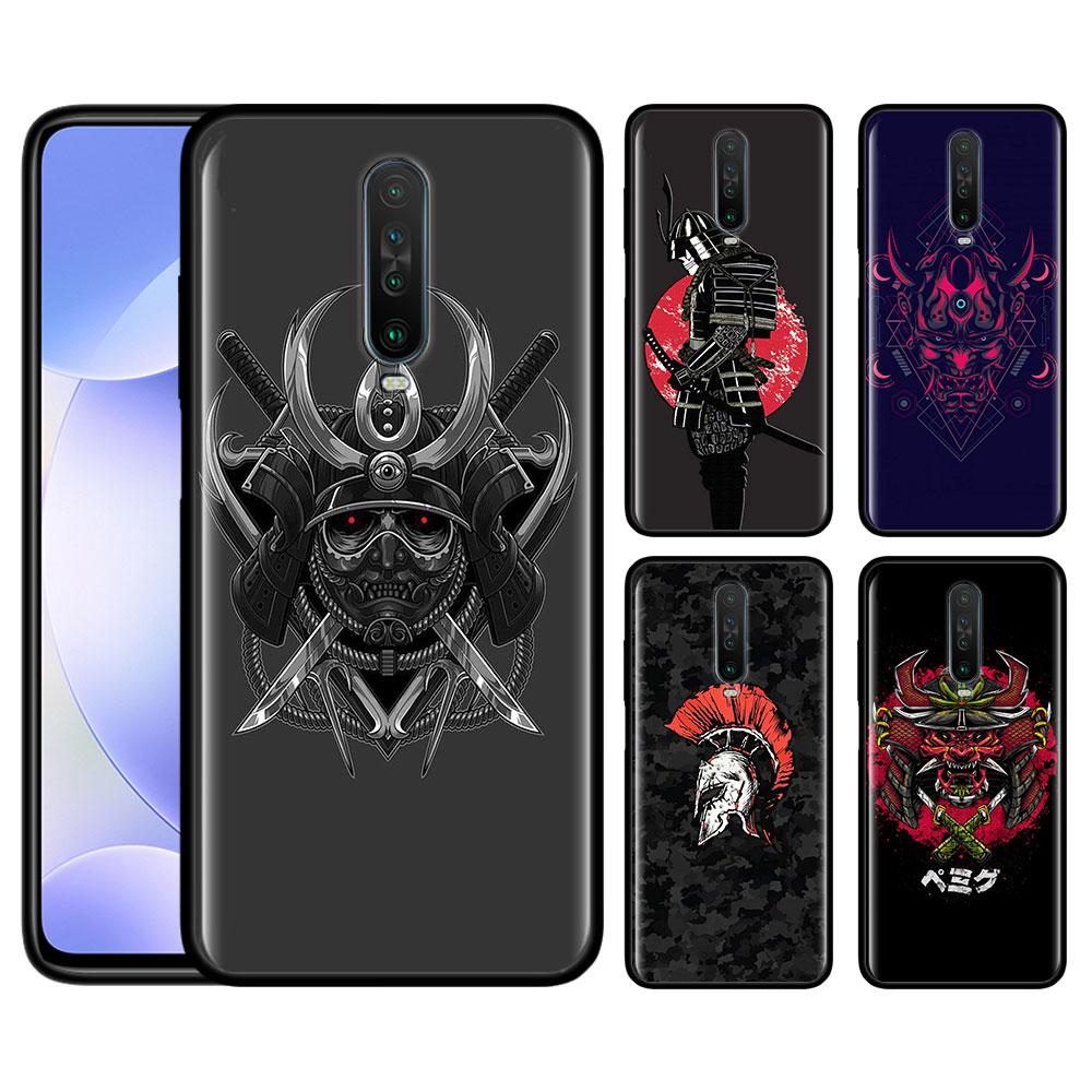 Case For Redmi Note 9 Pro 9S 9 9A 9C Note 8 8T 7 K20 K30 Pro 8 8A 7 7A 6A Soft Phone Shockproof Shell Japanese Samurai