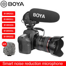 BOYA-micrófono supercardioide de Radio para cámaras DSLR, micrófono condensador de escopeta para entrevista, vídeo capacitivo, BY-3030/3031