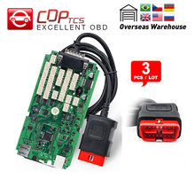 3pcs CDP TCS cdp pro plus A+Quality single green board  bluetooth 2016.00 keygen auto scanner cars trucks OBD2 diagnostic tool