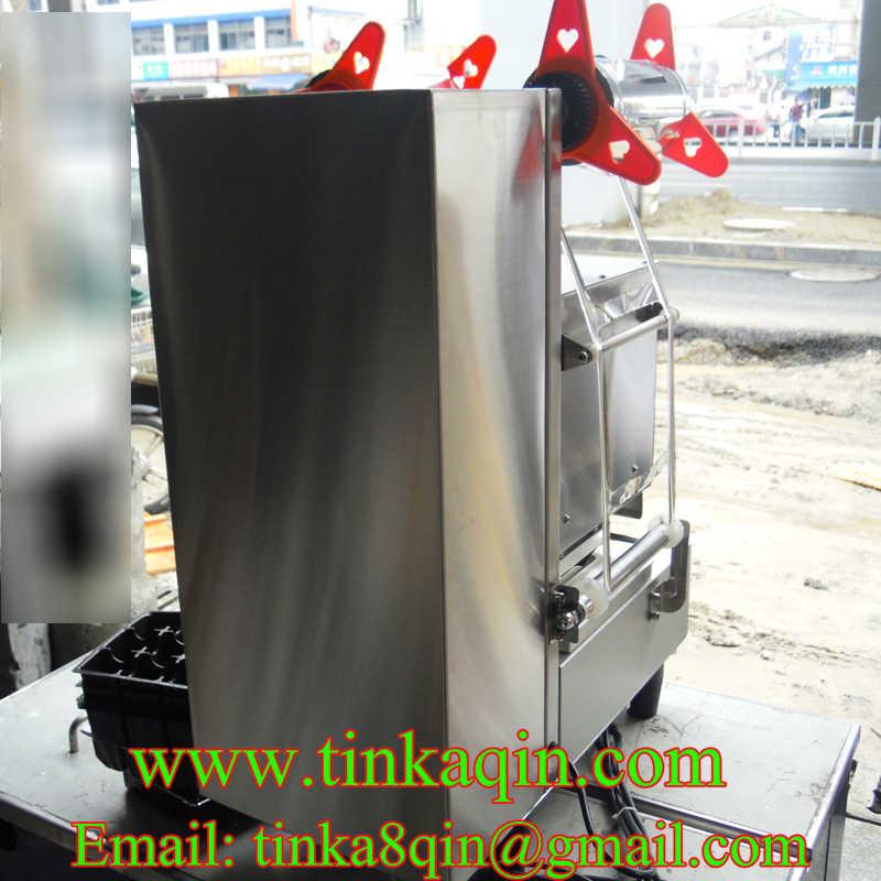 FGJ-AY1-1Automatic 95 чашка мм запайки молока чай герметик гайка машина для закатки банок фрукты запечатывающая машина для коробок пластиковый лоток бумажный стаканчик