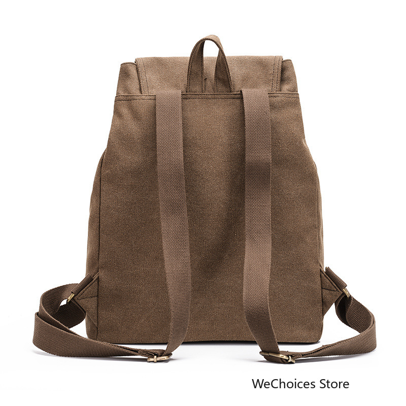 2019 men women canvas travel backpack vintage student school bags for teenagers large capacity laptop bag casual rucksack in Backpacks from Luggage Bags