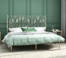 Cadre de lit en fer forgé, nordique et moderne, minimaliste, protection de l'environnement, 1.2 1.5 1.8 m
