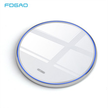 15W Qi Fast Wireless Charger For Huawei P30 Pro Samsung S9 S10 Note 9 8 10W QC 3.0 Wireless Charging Pad For iPhone 11 XS XR X 8