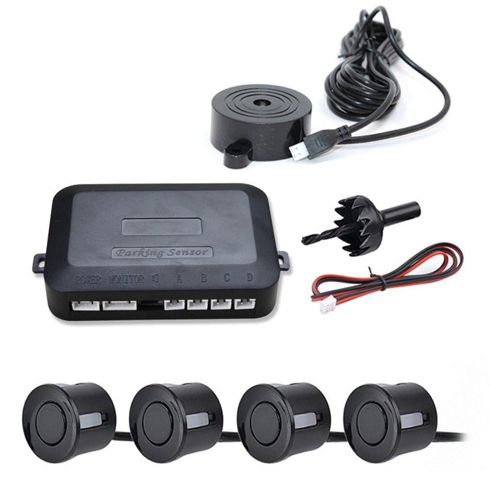 12V araba park sensörü kiti geri park etme radarı ses uyarısı göstergesi prob sistemi 4 prob bip sensörü araç dedektörü