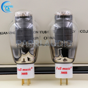 Image 1 - 1Pair TJ Fullmusic 300B Vacuum Tube Solid Plate Gold Pins Ceramic Base Alternative To Other Brands 300B Vacuum Tuba Audio