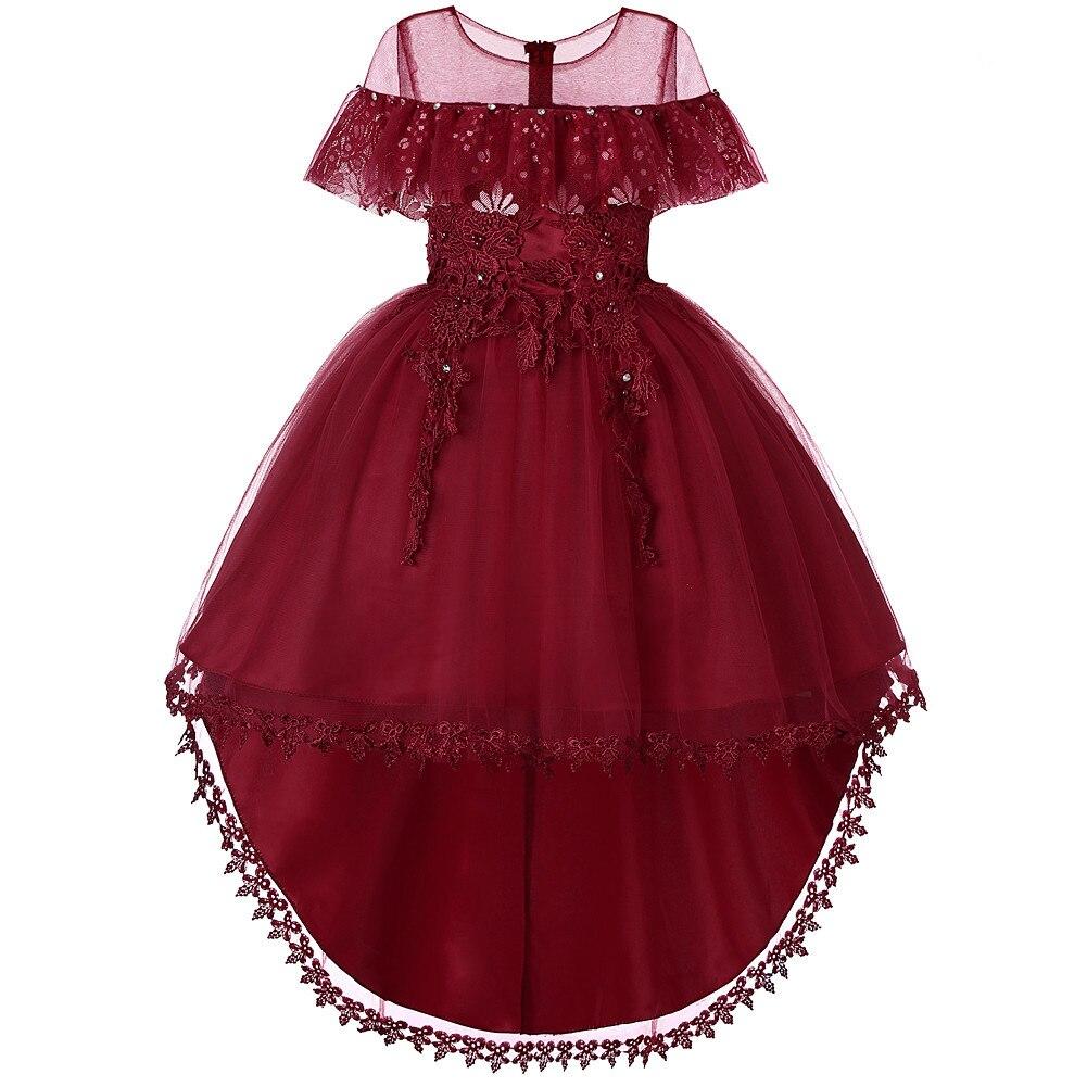 New Style CHILDREN'S Dress Princess Dress Big Boy Lace Dress Tutu Girls Tailing Dress