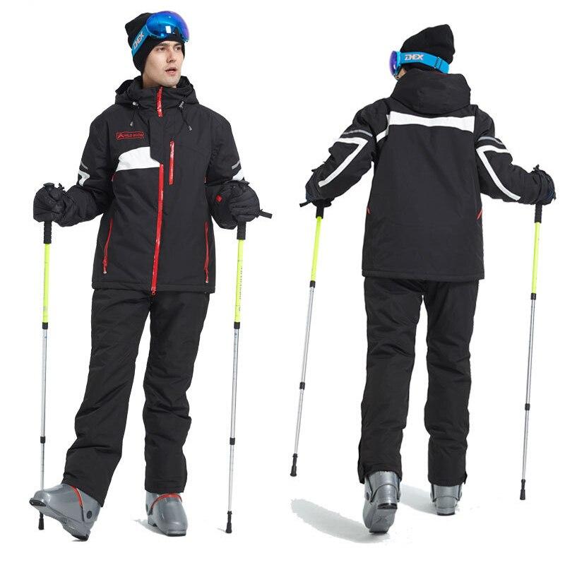 Ski Suit Men Winter 2020 Waterproof Windproof Thicken Warm Snow Clothes Men Ski Sets Jacket Skiing And Snowboarding Suits Brands