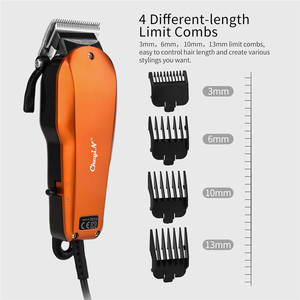 Image 3 - Ckeyin 220 240V Household Trimmer Professional Classic Haircut Corded Clipper for Men Cutting Machine with 4 Attachment Combs 40