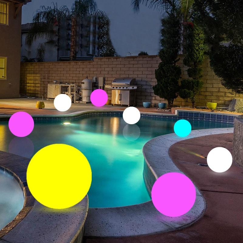 Waterproof LED Swimming Pool Floating Ball Lights Indoor ...