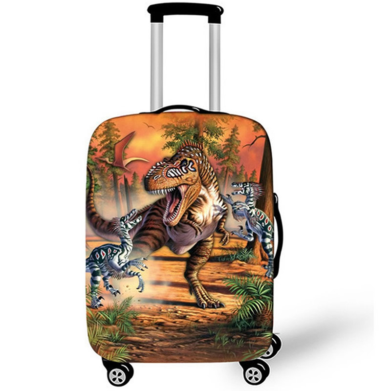 Animal Dinosaur Luggage Case Protective Cover Waterproof Thicken Elastic Suitcase Case Apply 18-32 Inch XL Travel Accessories