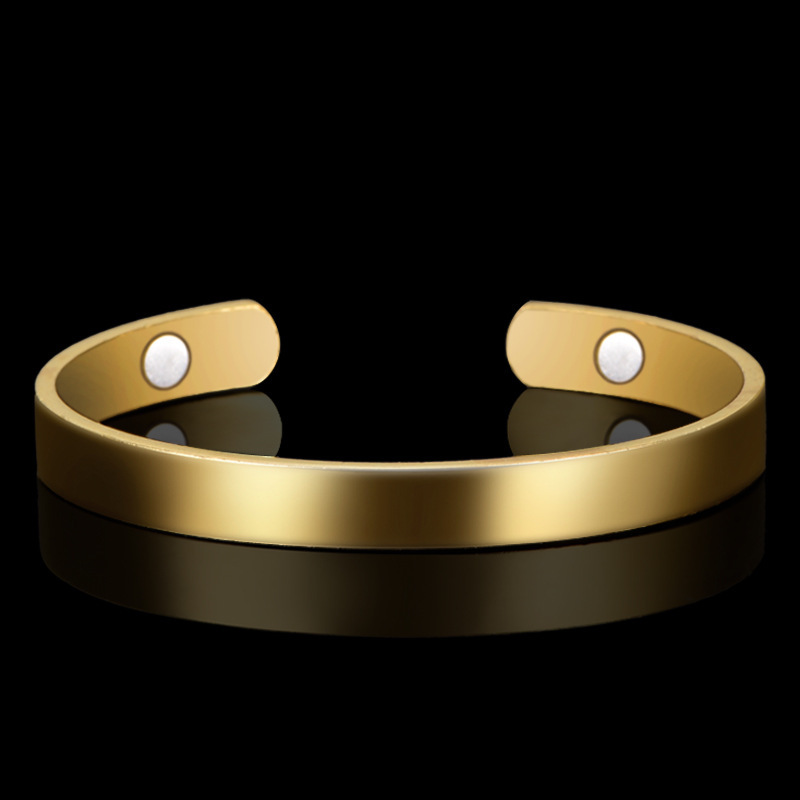 Bracelets & Bangles Smooth Copper Fashion Bracelet 18k Gold-plated Jewelry Health Care In Europe And The United States