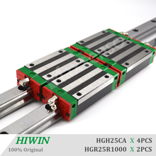 HIWIN HGR25 Linear Guide Rail 1000mm HGH25CA Blocks z axis CNC Machine Center Guides for a milling cutter  High Precision