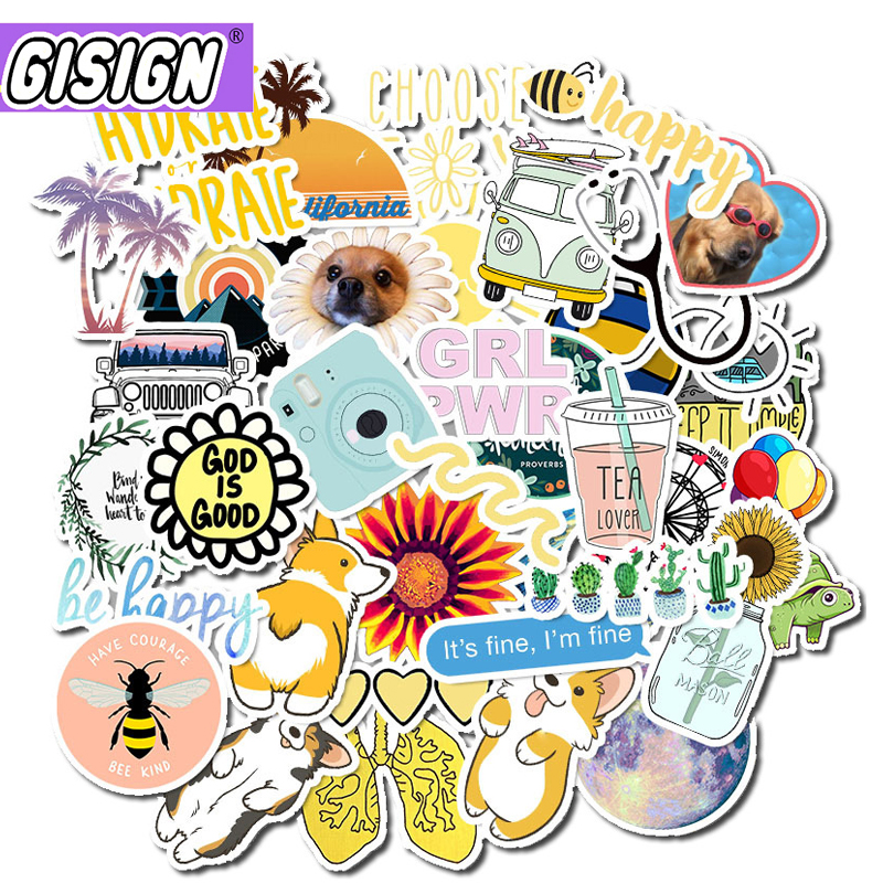 50Pcs VSCO Stickers Girl Thing Cool Waterproof Stickers For Skateboard Laptop Motorcycle Car Pack Decal Anime Girls Stickers