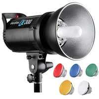 GODOX DE300/DE400 300 Вт/400 вт профессиональная студийная стробоскопическая вспышка GN58 освещение для фотографии Стандартный отражатель + пятицветны...