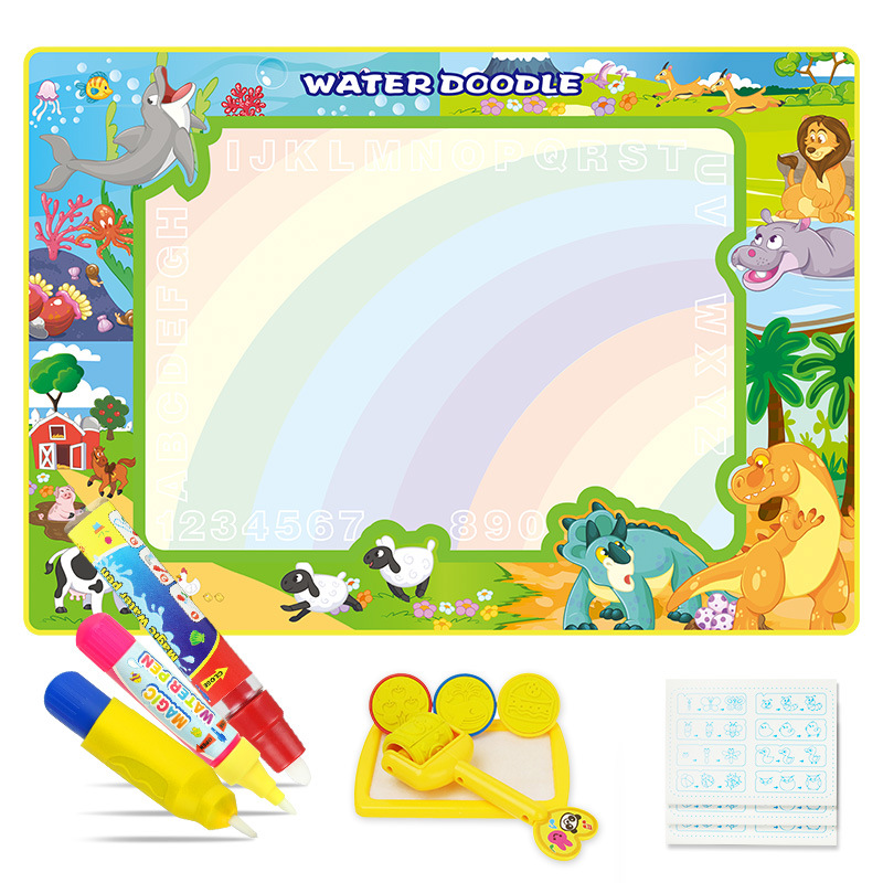 Children'S Educational Early Childhood Magic Canvas Magic Water Canvas 100*70 Oversized Doing Homework Blanket Baby Educational