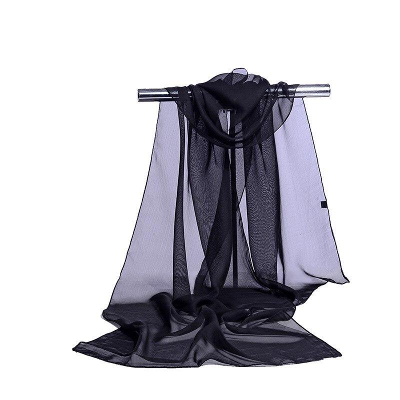 160*50cm Solid Color Selling Simulation Silk Chiffon Striped Scarf Wild Fashion Shawl Sunscreen Print Floral Scarf Scarves