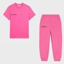 Magliette da donna manica corta girocollo t-shirt top estivi pantaloni sportivi larghi tute set di due pezzi abiti da jogging completi