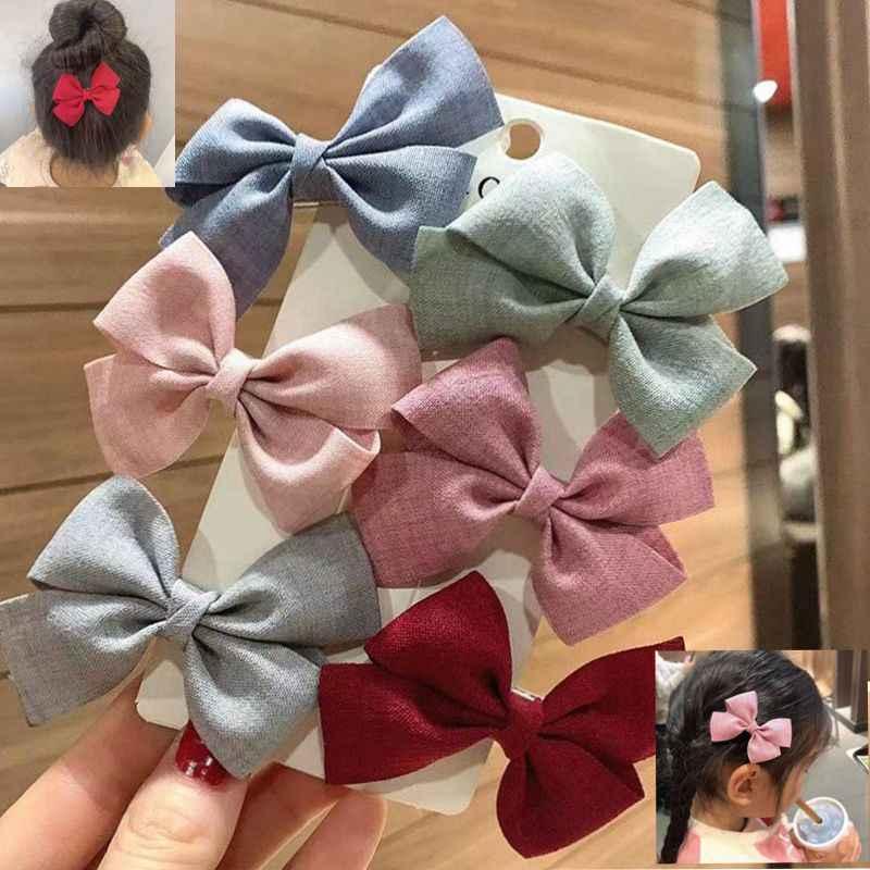 Girls Hair Accessories Cotton Blend Bow Hairpin Headdress Barrettes Hair Clip