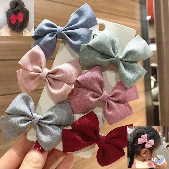 1PC Kids Baby Girl Hair Clips Colorful Bows Children Toddler Hairpin Haarspeldjes Barrettes Baby Hair Accessories Gift