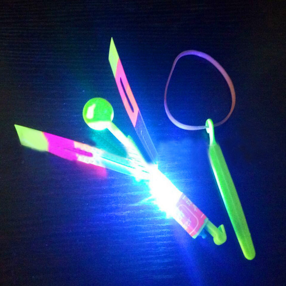4 Pcs Funny Luminous Slingshot Flying Arrow LED Light Up Flashing Dragonfly Glow For Kids Party Toys Gift To Brighten The Sky @A