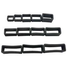 1pc PVC Watch Strap Retaining Hoop Loop Black Retainer Buckle Holder Wrist Accessories 8/10/12/14/16/18/20/22/24/26/28/30m