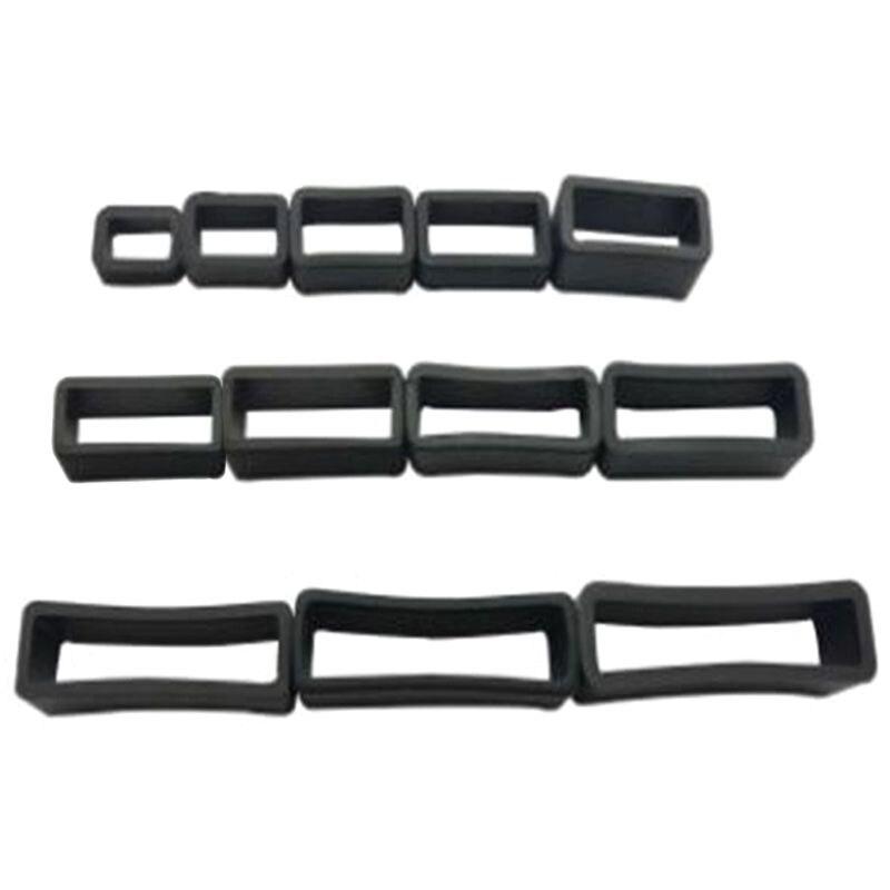 1pc PVC Watch Strap Retaining Hoop Loop Black Retainer Buckle Holder Wrist Watch Accessories 8/10/12/14/16/18/20/22/24/26/28/30m