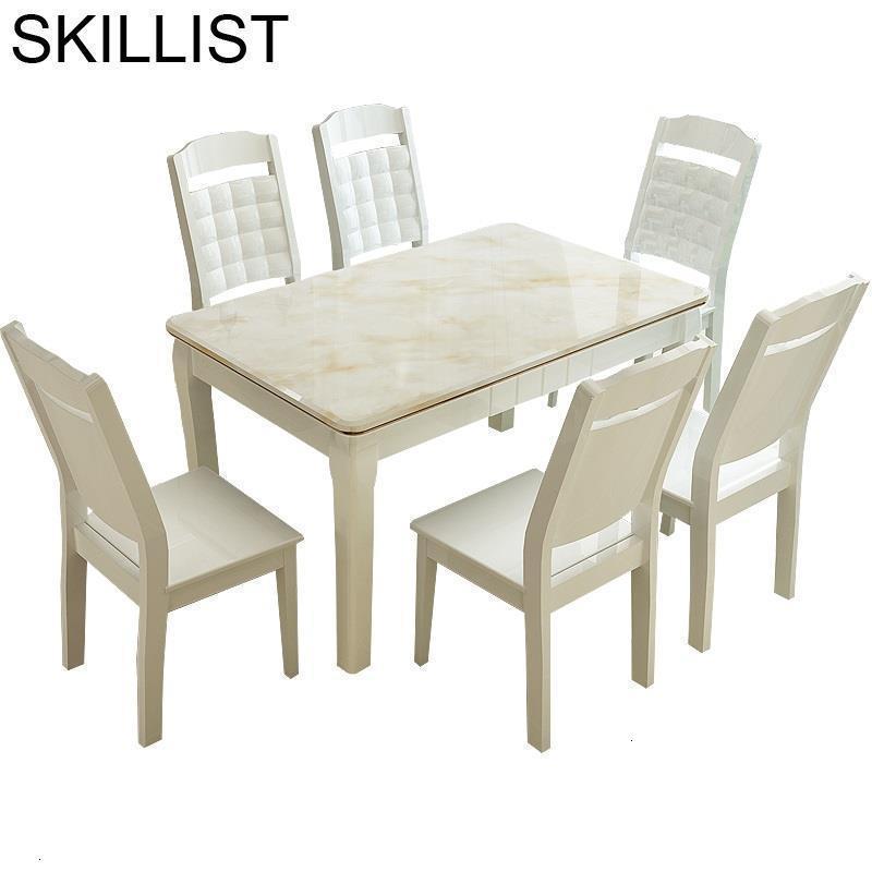 Masa Sandalye Dinning Tisch A Manger Moderne Tavolo Eettafel Comedor Set Wooden Tablo Desk De Jantar Mesa Dining Room Table
