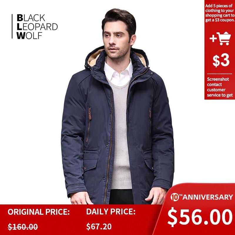 Blackleopardwolf 2019 Winter Jacket Men Fashion Coat Thick Alaska Parka Men  Windproof Detachable Cotton Outwear  BL-6607